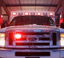 Ambulance Vehicle Outside