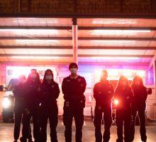 Ambulance members from Syracuse University